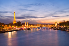 City of lights (David Khutsishvili) Tags: pont alexandre iii concorde evening paris france d800 blue hour dkhphoto
