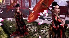 Sadness and Sorrow (Natsu(㇏(•̀ᵥᵥ•́)ノ)) Tags: naruto sorrow sadness secondlife blogger flickr photography digitalphotography digital art geisha fashion unnaturalsl catwa maitreya zenith kimono japanese shippuden feelings virtual people cherry blossom sakura flower petals shinto shrine