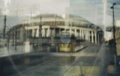 Manchester (626) (benmet47) Tags: tram transport urban metrolink m5000 lomo lomography holga135pc film metrolinkm5000 canoscan9000f pinhole