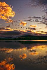 Last light 2. (alan.irons) Tags: landscape reflections loch reservoir clouds light water sky hills mountains scottish scotland lintrathen calm serene tranquil evening sunset colour 2017 portrait