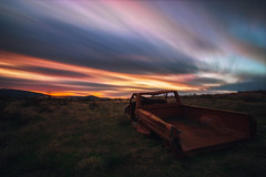 Last Sunset (PNW-Photography) Tags: abandoned rusty old explore exploration desert pasco richland kennewick tricities washington sunset longexposure sky skyscape colorful clouds colors auto automobile automotive lost sony a6000 sonya6000 rokinon 12mm rokinon12mm