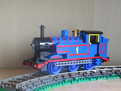 LBSCR E2 (ScotNick1) Tags: e2 lego train steam engine thomas ttte tank shapeways rods 3d print blue number one 1 locomotive lbscr london brighton south coast railway railroad track power brick 060 060t lining livery