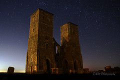 Reculver Tower (DSW Photography) Tags: kent uk reculver reculvertowers england old night nightshot nightshoot longexposure lights sky stars nightsky nighttime