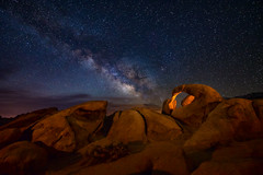 The Stars of Alabama Hills (Joaquin James Javier) Tags: alabama hills california mobius arch milky way astrophotography stars sierras eastern boulders light painting