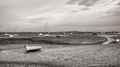Fearnot….. (AJFpicturestore) Tags: hmm monochromemonday tide lowtide boats highdry atrest waiting fearnot boat name alanfoster