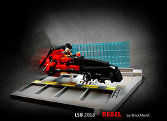 LSB 2018 Rebel -  with stand (Brick Martil) Tags: toy lego speeder bike 2018 lsb futuristic modern flyer sci fi