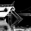 marina (heinzkren) Tags: schwarzweis blackandwhite bw monochrome panasonic lumix kroatien punat croatia hafen jacht jachthafen spiegelung reflection wasser water sea ship schiff tau seil anker ankerplatz