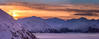 Turnagain arm sunset (Traylor Photography) Tags: tram girdwood sunset mountains alyeska ski alpenglow cloudinversion snowboard roundhouse slopes colors turnagainarm shadows snow alaska light anchorage unitedstates us