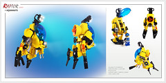 Raptor series: Aquanauts (Brixnspace) Tags: raptor walker frame powersuit suit lego moc toy biped flipper aqua aquazone aquanauts flip flop flippers submarine underwater sea undersea