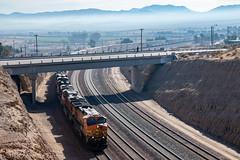 BNSF 4320 West: Unknown Intermodal at Barstow, California (Z-Trains) Tags: trains train railfan railfanning barstow barstowrailfan cajon needles bnsf up unionpacific