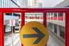 Direction of life (Kai-Ming :-))) Tags: kmwhk kaiming hongkong tsuenwan bridge red yellow ped pedestrianbridge footbridge bus sky building mtrstation pedestrian