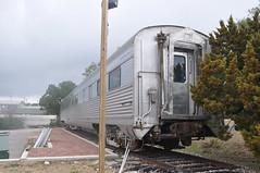 "CB&Q Buffet-Coach 4852 ""Silver Beam"" - 3/4 View (skytop45) Tags: chicago burlington quincy buffet coach passenger train car budd zephyr texas compound austin"