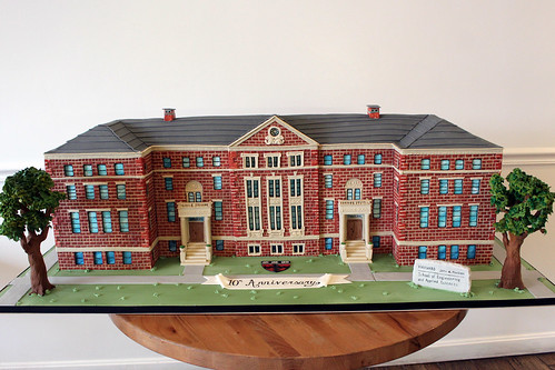 Harvard Sculpted Building Cake