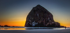 Haystack Rock, Cannon Beach, OR (gks18) Tags: canon lightroom nik nature sunset beach oregon people ocean