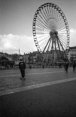 (Hugo Bernatas) Tags: ilford delta 3200 film analog skateboard blackandwhite street lyon france olympus xa2