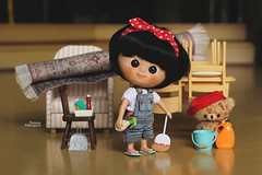 Cleaning day, baby!! (Passion for Blythe) Tags: cleaning mathilda minimuichan muichan tiny cute ixtee ixdoll