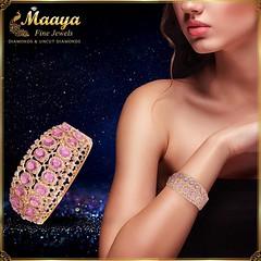 Diamond Fancy Bracelet - Maaya Fine Jewels (maayacomms) Tags: diamondjewelry uncutdiamondjewelry gold jewelry south indian precious stone diamond bracelet fancy nj new jersey maayafinejewels