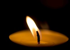 CANDLE (helentog) Tags: candle wick flame tealight