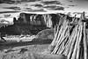 Lean To (CDeahr23) Tags: monumentvalley olijatovalley navajo navajoreservation arizona sunset blackandwhite monochrome arizonapassages