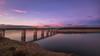 Puente sobre aguas (Victor Aparicio Saez) Tags: puente atardecer agua alairelibre horaazul naturaleza nubes nikond5200 fotoconamparohervella filtrond reflejos paisaje pantano p
