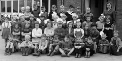 School photo (theirhistory) Tags: school class form group photo boys girls children kids teacher shorts dress jumper shoes wellies jacket boots