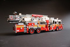 FDNY Tower Ladder 13 (sponki25) Tags: fdny tower ladder aerialscope 75 2010 fire department city of new york nyc lego seagrave marauder ii yorkville pride