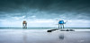 Blue mood (Soregral) Tags: planche leverdesoleil ciel pêcherie cabane océan ponton bois littlestopper ndhardgraduated09 paysage rocher côte filet poselongue nuage leefilter techniquephoto échelle lumière carrelet filé mer