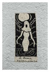 Under the Bridge (5) (Robert Drozda) Tags: portland oregon sticker stjohnsbridge abutment art lallorona drozda