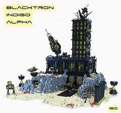 Blacktron Indigo Alpha (I Scream Clone) Tags: lego blacktron space scifi classic ship mech base
