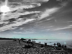 """""""Life is such unutterable hell, solely because it is sometimes beautiful."""" ―T.H. White ☁️ ☀️ 🌊 (anokarina) Tags: appleiphone6 adobephotoshopexpress colorsplash aquamarine clouds lewes delaware de greenhill sun lewesbeachsouth atlanticocean ☁️ ☀️ 🌊"""