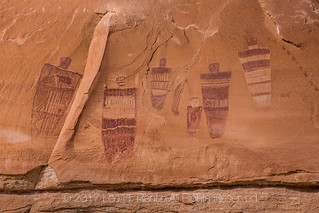 Detail of Great Gallery Panel of Barrier Canyon Style Pictograph