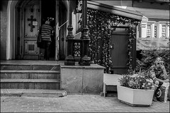 3_dsc7317 (dmitryzhkov) Tags: street moscow russia life documentary human social urban streetphotography monochrome people bw door gate religion church rogue beggar scene scenesoflife seat sit step stair yawn yawner dmitryryzhkov blackandwhite everyday candid stranger