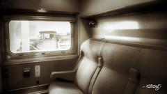 Accommodations_mono (dougkuony) Tags: durham durhammuseum hdr omahaunionstation unionstation accommodations bw blackandwhite mono monochrome railcar seating