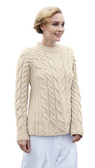 Blonde women in casual knitwear (Mytwist) Tags: knitwear outfit style fashion shamrockgift ladies irish multi cabled raglan super soft merino wool sweater design retro knit jumper yarn euc handknit