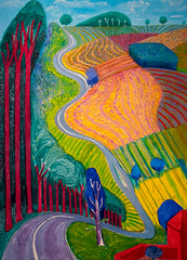 David Hockney, Going Up Garrowby Hill, 2000 1/16/18 #metmuseum (Sharon Mollerus) Tags: metropolitanmuseumofart newyork unitedstates us cfptg18