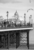 Eastbourne (marktmcn) Tags: eastbourne pier east sussex england victorian structure seaside coast coastal domes lamps sea gulls seagulls people shingle beach blackandwhite monochrome d80 nikkor 18135mm