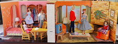 BARBIE'S 'NEW' 1964 DREAM HOUSE! (ModBarbieLover) Tags: barbie doll dream house 1964 furniture ken skipper vintage dress
