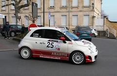 #25 Fiat ABARTH 500 - 02 (kinsarvik) Tags: castillonlabataille gironde bordeauxaquitaineclassic rallye rally