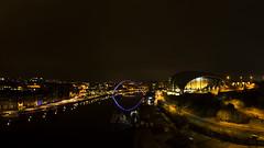 Night River (Gopostal1) Tags: river tyne bridge nightphotography nikon northeast sage millennium blue