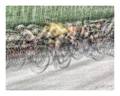 Cycling Frenzy (GR167) Tags: abstract iphoneart slowshutter iphone roadcycling impressionism