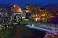 City of Pigeon Forge, Sevier County, Tennessee, USA (Photographer South Florida) Tags: pigeonforge tennessee smokymountainsnationalpark recreation vacation country dollywood hotels city cityscape oldmill easttennessee urban architecture commercialproperty realestate skyline historical touristdestination beautifulscenery mountains hills citylights seviercounty volunteerstate rockytop countrymusic gatlinburg gifts shopping restaurants bluehour waterfall longexposure yexttennessee