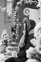 Finland's independence day photoshoot (AV art) Tags: finland independence day 6th december winter model girl woman young itsenäisyyspäivä 612 suomi 100 vuotta suomi100 talvi tampere nuori suomalainen nainen malli naismalli blackandwhite bw monochrome greyscale mustavalkoinen mustavalko mustavalkokuva harmaasävy tallipiha jouluvalot joulu ilta valaistus valot outdoor public
