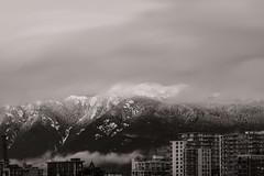 Exclusively in Vancouver (little_stephy0925) Tags: vancouver bc canada britishcolumbia olympicvillage cypressmountain cypress snowymountain winterisstillhere fujifilm fuji fujixt2 xt2 fujinonxf50140mm xf50140mm mirrorlesscamera bw blackandwhite bwphoto longexposure longexposureshots snow coveredinsnow silkyclouds beautifulbc explorebc