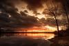 Colère sur la Saône (Stéphane Sélo Photographies) Tags: france lyon paysage pentax pentaxk3ii rhône saône sigma1020f456 ain blending couchant coucherdesoleil eau fleuve landscape rivière sun sunlight sunset