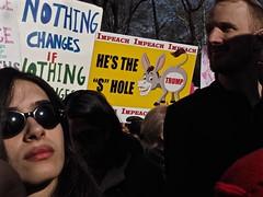 IMPEACH IMPEACH IMPEACH (Professor Bop) Tags: protest protesters impeach placards dissent resist newyorkcity nyc womensmarch2018 olympusem1 antitrump impeachtrump resistance photojournalism