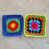 Crochet square 82 and a granny square (crochetbug13) Tags: crochetbug crochet crocheted crocheting crochetsquares grannysquares crochetblanket crochetthrow crochetafghan grannysquareblanket grannysquarethrow grannysquareafghan
