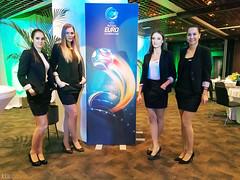 Pravkar na stadionu Stožice. Hostese na pogostitvi UEFA Futsal EURO 2018.  www.jezersek.si www.hisa-vizij.com www.nzs.si