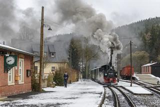 Preßnitztalbahn (2) DR 99 1590-1, 07-03-2016