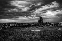 """""""Do you believe in metaphors?"""" (Leighton Wallis) Tags: sony alpha a7r mirrorless ilce7r 1635mm f40 emount newcastle obelisk nsw newsouthwales australia hill lovers boy girl storm clouds"""