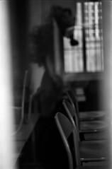 c'est fichu, réminiscence (hugobny) Tags: ilford pan 400 iso caffenol cl pentaxp30 smc f18 55mm auto portrait salle de classe argentique analogue analog strasbourg street semistand